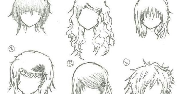 More Manga Anime Hair Part 2 Drawing How To Pinterest