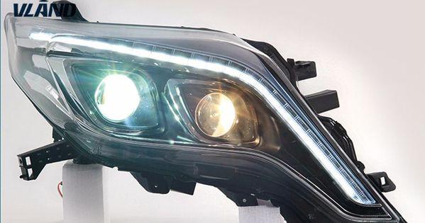 Free Shipping For Vland Car Head Lamp For Prado 2014 2016 Land Cruiser Prado Headlight Led Daytime Running Light Xenon Hid Running Lights Car Lights Car Head