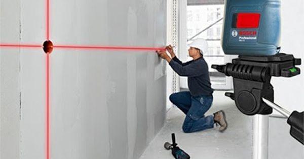 ميزان ليزر بوش اقوي ميزان ليزر من بوش بحامل ثلاثي القوائم Laser Levels Beginner Woodworking Projects Installing Cabinets