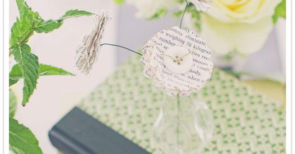 cute literary library wedding inspiration