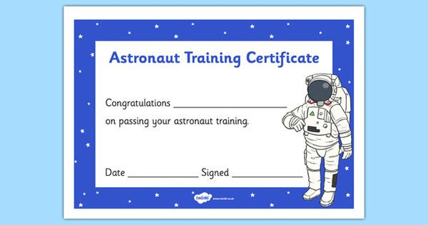 Student-centered Resources, Astronauts And Training