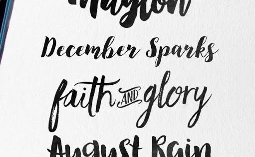 Modern brush fonts are very popular at the moment here