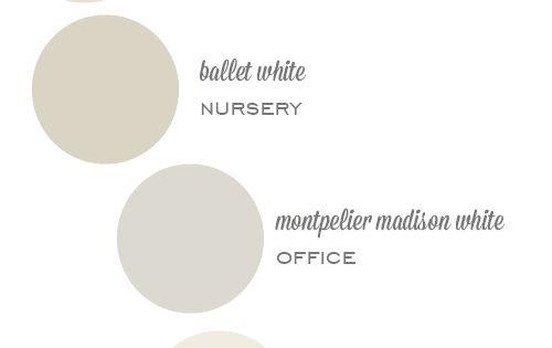 "neutral paint colors (Benjamin Moore ""Revere Pewter"", ""Edgecomb Gray"", ""Ballet White"", ""Sandy"