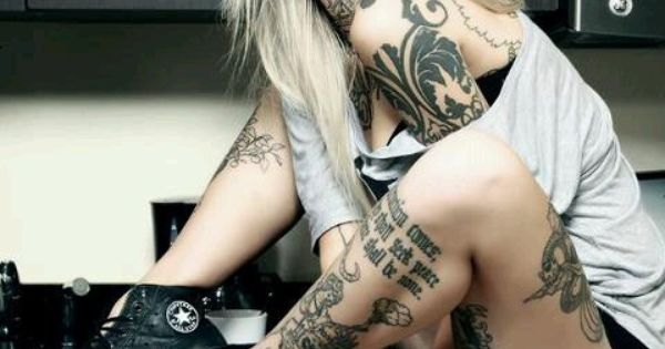 Finnish Tattooed Model Sara Fabel! My favorite Tatoo Model and Artist!