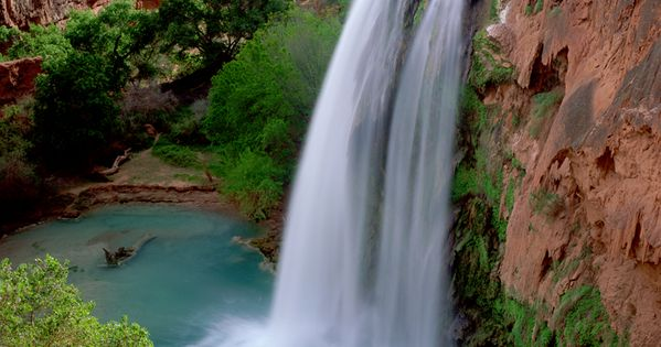 Havasu Falls is a waterfall in the Grand Canyon located 1½ miles