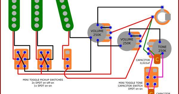 guitar pickup wiring diagram vintage guitars pinterest. Black Bedroom Furniture Sets. Home Design Ideas