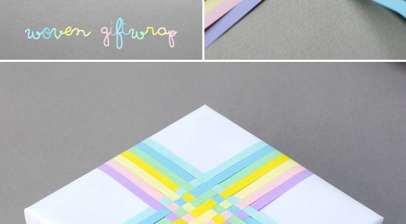 Gift wrap idea. Woven gift topper paper craft idea. This project uses