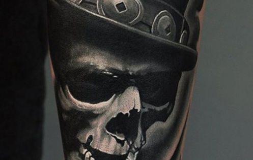 Skull Amp Hat Tattoo Tattoos Pinterest Tattoo Tattoo Designs And Tatoo