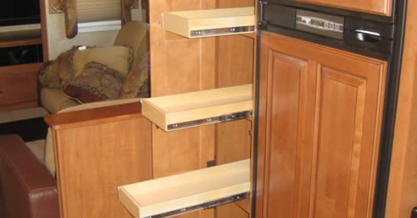 this recreational vehicle got an organizational boost from. Black Bedroom Furniture Sets. Home Design Ideas