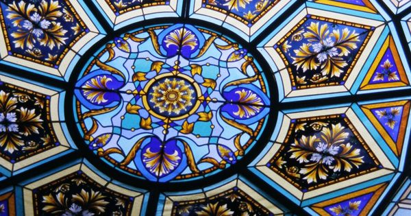 stained glass dome by france vitrail international paris france 5m dia private home jeddah. Black Bedroom Furniture Sets. Home Design Ideas
