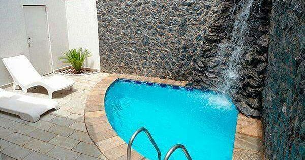 Alberca patio tranquilo cascada albercas arte arquitectura pinterest albercas patios - Modelos de piscinas pequenas ...
