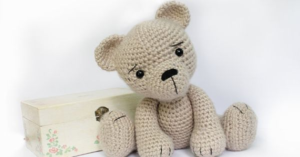 Knitting Patterns Teddy Bear Stuffed Animals : PATTERN : Bear-teddy -Amigurumi bear pattern-Bear -Classic Bear-Crochet -Knit...