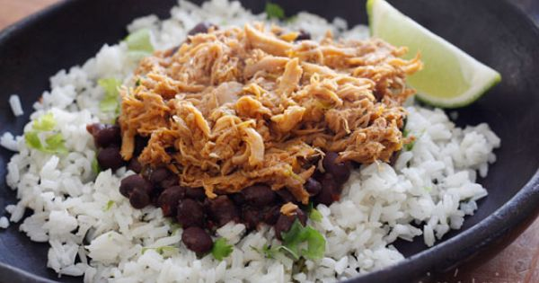 Sweet and spicy slow cooked pork sweetened with brown sugar, cola, chipotle
