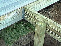 How To Extend An Existing Deck Expand An Old Deck Make A Deck Bigger By Adding More Posts And Joists Outdoor Living Deck Diy Deck Deck Framing