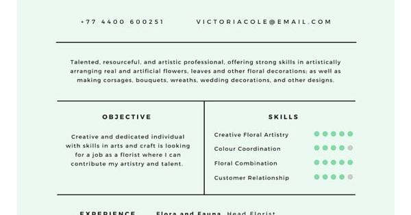Professional Resume Template Cover Letter for MS Word Modern - floral designer resume