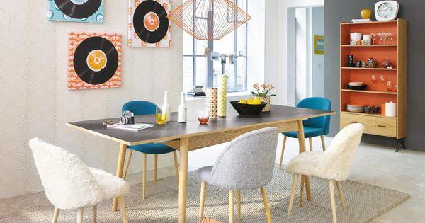 chaise vintage en tissu et bouleau mauricette maison. Black Bedroom Furniture Sets. Home Design Ideas