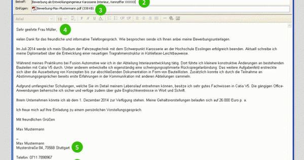 bewerbung per email muster bewerbung pinterest - Online Bewerbung Anschreiben Email
