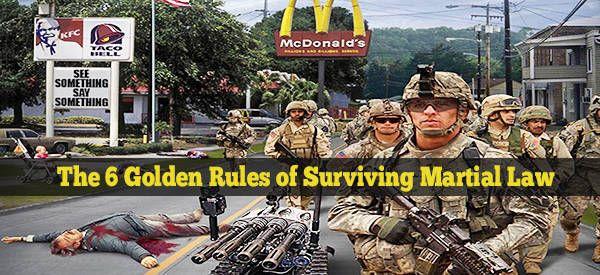 The 6 Golden Rules Of Surviving Martial Law Martial Law Survival Survival Culture Eats Strategy
