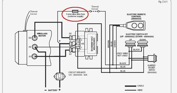 lewmar windlass wiring diagram upgrade windlass power wiring