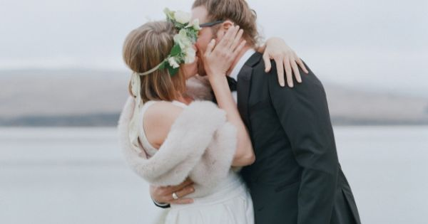 24 Utterly Romantic Wedding-Day Kisses - Alison and Markus