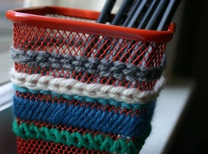 Have eyesore wire baskets? Needlepoint them!   DIY ...