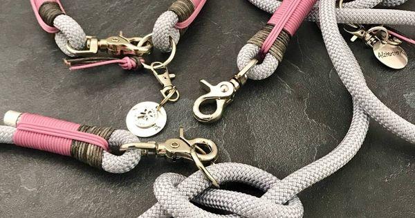 Edles Silbernes Kletterseil Trifft Auf Silbernes Kletterseil Altrosa Cord In 2020 Diy Dog Collar Rope Dog Rope Dog Leash