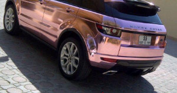 Pink Range Rover Evoque