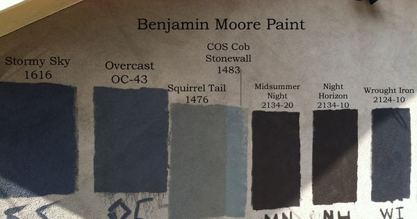 Benjamin Moore Paint Colors Stormy Sky 1616 Overcast Oc 43 Squirrel Tail 1476 Cos Cob