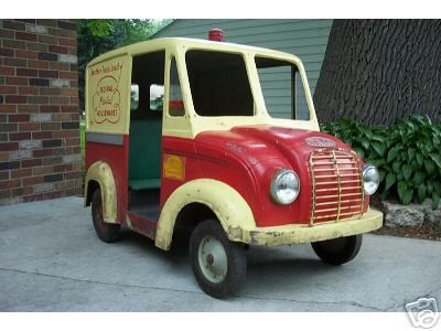 Divco Pedal Car Toy Pedal Cars Pedal Cars Vintage Pedal Cars