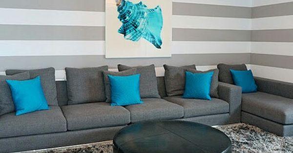 Tu sala gris y ese toque diferente y colorido con el az l for Sala gris con azul