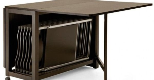 Table modulable en bois 6 chaises pliantes en m tal domitalia ideas de i - Table pliante modulable ...