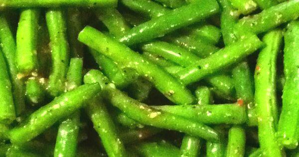 Marinated Greenbeans | health and wellness | Pinterest