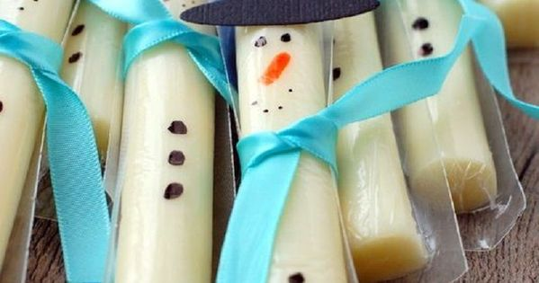 String Cheese Snowmen Food Ideas Food And Blue Food