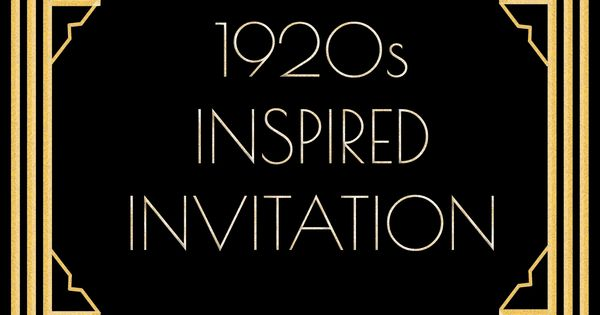 Use this 1920s inspired invitation template for a Gatsby ...