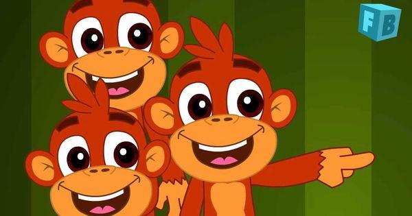 Five Little Monkeys jumping on the bed | Children Nursery ...