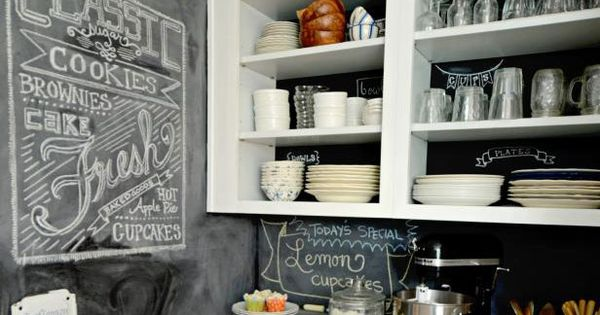 Love This Chalkboard Backsplash See All Of 2015 39 S Top Kitchen
