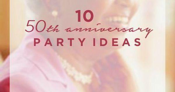 Hallmark Wedding Anniversary Gifts: A Golden Celebration: 50th Anniversary Party Ideas
