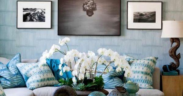 wohnzimmergestaltung ideen bilder design gemälde leuchten Interieur ...