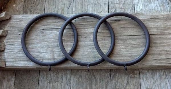 Extra Large Rustic Iron Rings Curtain Drapery Rings With Etsy