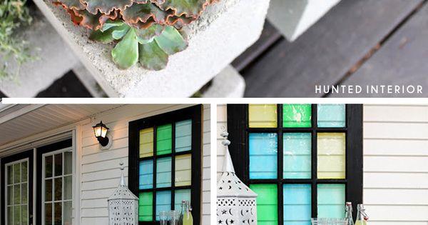 Mesita jard n con bloques de hormig n bloques de cemento for Bloques de cemento para pisos de jardin