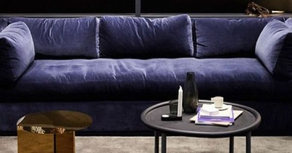 Hay hackney sofa blue velour google search project for Recherche canape