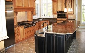 two tier kitchen island pictures. Love the color and design ...