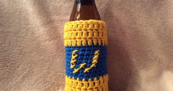 Crochet Golden State Warriors Inspired Beer By