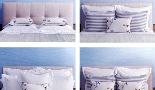 Various ways to arrange pillows on the bed decorating tips - What Your Pillow Arrangement Says About Your Style Style