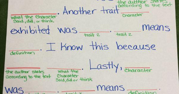 Essay paragraph frames