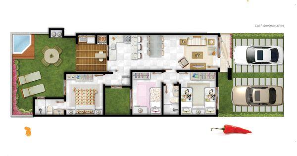 Planta de casas com 2 quartos em meio terreno modelos for Casa clasica procrear terminada
