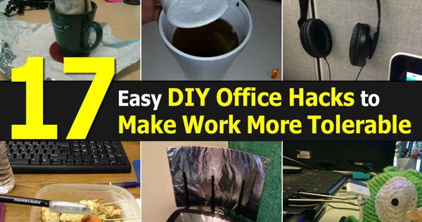 17 Easy DIY Office Hacks to Make Work More Tolerable   DIY ...