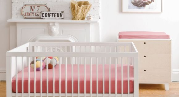 Clean, Modern and Pink Nursery - Kids Room Ideas