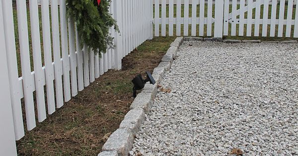 March Extend Parking Pad And Add Gravel Edging To Fence