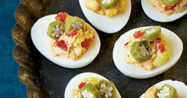 Blue, Deviled eggs and Pimiento cheese on Pinterest